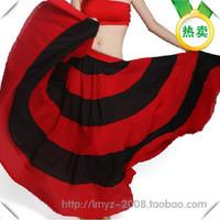Belly dance skirt skirts spanish bull skirts black and red expansion skirt