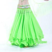 Roll-up hem chiffon dress belly dance costume belly dance expansion skirt