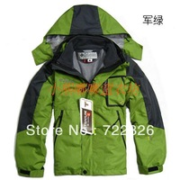 Free shipping Child twinset outdoor ski suit jacket wadded jacket cotton-padded jacket 6 - 40 chromophous