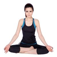 Spring and summer female yoga clothes set running fitness aerobics clothing yoga clothing pad