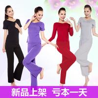 Summer yoga clothes modal set fitness clothing short-sleeve leotard plus size yoga clothing