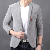 Free shipping Cow male blazer men's clothing british style slim single-button knitted autumn outerwear