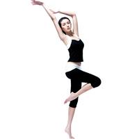 Pad yoga dance clothes yoga clothing vest capris set
