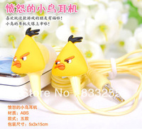 Amazing Price!10 pcs Colorful 3.5mm Newly mini cute Cartoon Birds Earphone Headphone High Quality