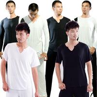 Male clothes long-sleeve yoga workout clothes yoga clothing leotard short-sleeve cotton set men's