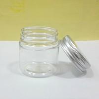 Plastic cosmetic jar with aluminium lid Cream container Cosmetic packaging