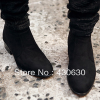 Fashion Boots Tidal Current Male Genuine Leather High-top Shoes Suede Leather Fashion High Elevator Casual Shoes Male shoes