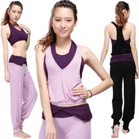 Hot-selling 2013 spring and summer female yoga clothes set yoga fitness aerobics clothing piece set