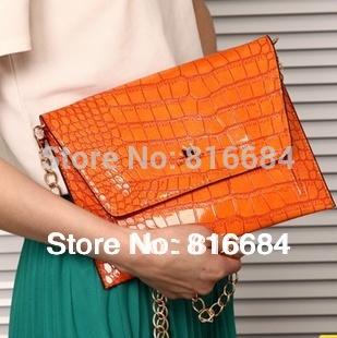 Livraison gratuite!! 1 pcs/beaucoup. gros crocodile motif embrayage. croix. corps sac messager sac enveloppe