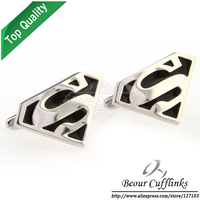 (Min.order is $10 )  Supermen Cufflinks AG0555 -Free Shipping!