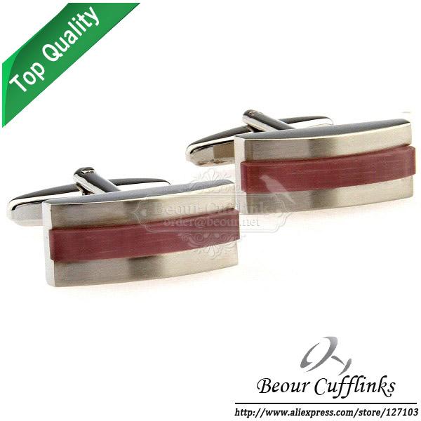 Novelty Round Red Onyx Cufflinks AG0720 -Free Shipping!(China (Mainland))