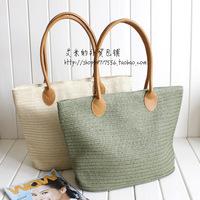 2013 Japan's recreation bag straw bag rattan bag women's handbag shoulder beach bag