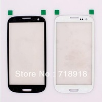 50pcs/lot For Samsung Galaxy SIII i9300 Front Lens Glass black white color Frre Shipping by EMS DHL
