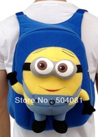 best seller Despicable Me Cosplay backpack Jorge minions doll travel bag plush STUART Beedo Baby 3D eye kid travel shoulder bag