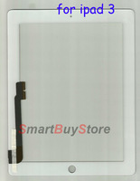 New, original GeneralTouch screen digitizer for ipad 3 and for ipad 4,black and white color ,china post free shipping