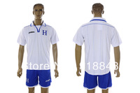 2013/14 Honduras home white soccer football jersey + shorts kits , best quality soccer uniforms embroidery logo free shipping