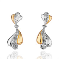 18KGP E106 Free Shipping, Copper With 18K Platinum Plated Earrings For Women, Fashion jewelry, nickel free