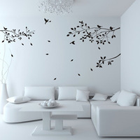 2014 large wall sticker tree jungle  windows glass bird vinyl wall decals for nursery stickers wallpaper mural diy quotes
