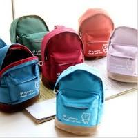 South Korea lovely bear  canvas zero bag double multi-function key bag wholesale mobile phone package COINS