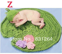 Free Shipping Hot Sale 2014 Photo Prop Knit Crochet Toddler Baby Kids Costume Lotus Hat Fashion Baby Clothing