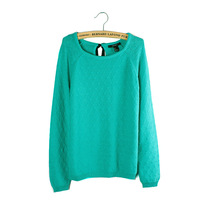 2013 autumn 100% cotton slim pullover o-neck long-sleeve sweater women's 905 sweater
