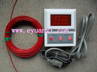 Free shipping Thermostat set carbon fiber heating wire 10 meters