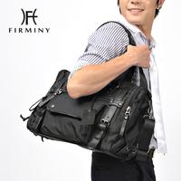 2013 man bag nylon leather handbag male messenger bag