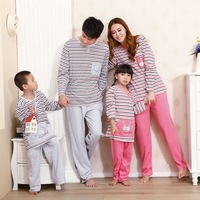 A Person's Parenting Cotton Striped Pajamas Autumn Clothing Bathrobe Men Ladies Nightwear L XL XXL