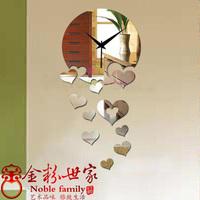 free shipping Diy mirror watches and clocks digital wall clock mirror wall stickers novelty wall decoration