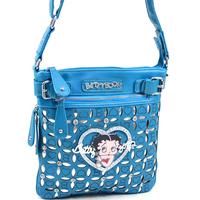 Classic Betty Boop Messenger Bag with Rhinestones and Cut Out Design 2013 Women's Fashion Handbag Shoulder Bag