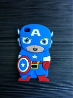Drop Shipping 3D Anime Cartoon Super Hero Captain America Soft Silicone Phone Cases Cover For Ipod Touch 4 4G 4th Protector Item