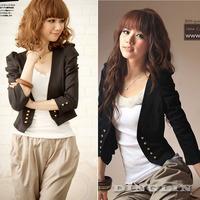 Jackets Women Outwear Tops Small Short Coat Cardigan Black Shrug Long Sleeve Designer Double-Breasted Bolero Free Shipping 0808
