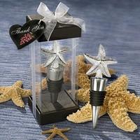Zinc Alloy Starfish Wine Stopper Wedding Favors,100pcs/lot Bridal Shower favors Free Shipping