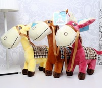 Fee Shipping Promotion Plush toys, donkeys, horses, a variety of color combinations, the lowest price 8pcs/lot