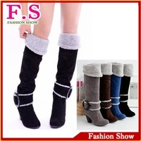 Free shipping Snow Boots Winter Shoes for Women Knee High Heel Ladies Sexy Fashion Causual Boots Big size 34-43 KB161