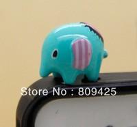 Free shipping ,kawai Elephant charms headphones mobile phone dust plug for iphone dust cap
