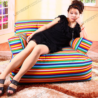 FREE SHIPPING striped bean bag company 100% cotton canvas bean bag stuffing without filling zebra bean bag bean bag store