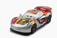 Free shipping Original Pixar Cars 2 Miguel Camino Silver Racer Series Metallic Finish Diecast figure toy loose