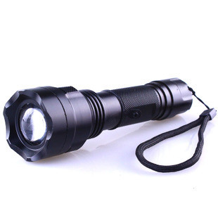 Free shipping led flash light Variofocus c8-6ledr3 wick glare flashlight rotating focusers charge waterproof  camping flashlight