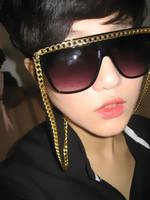Vampish chain sunglasses sun glasses chain decoration general anti-uv sunglasses