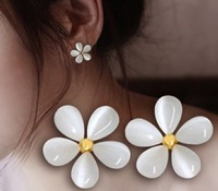 Flower Stud Earring Female Fashion Fresh Earrings Accessories White Sakura Stud Earring 24pair/lot