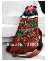 2014 Embroidered School Knapsack Chinese Handmade Travel  Ethnic Canvas Reto Bag