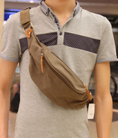 The trend of fashion bag chest male backpack canvas casual bag waist pack man bag male shoulder bag