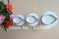Free shipping 3PCS leaf cake cookies machine plunger paste sugar craft decorating tools   A072