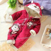 2014 new  autumn Winter romper  newborn kids outwear baby girl romper cotton infant  jumpsuit