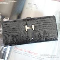 Wallet genuine leather long design japanned leather wallet women's wallet women's clutch card holder women's handbag