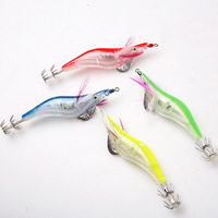 4pcs/lot Squid LED flashing Fishing Jigs Lures Light electronic SHRIMP lure jig tackle flash bait
