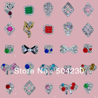 100PCS 3d metal nail art crystal rhinestones cell phone decoration accessories gems glitters wholesale