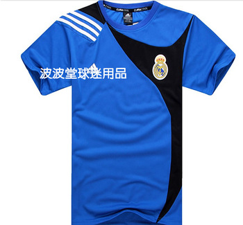 free shipping sport Fans supplies football souvenir real madrid 2013 T-shirt casual sports football jersey