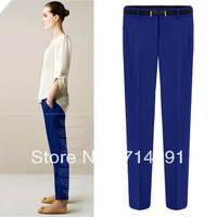 Hot sale new british style summer casual chiffon trousers pants knitted pants pencil pants